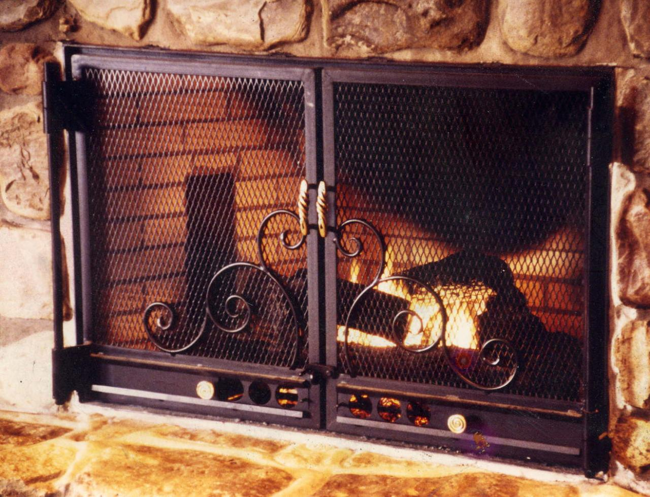 real stuff gallery and gifts fireplace doors screens and firepits